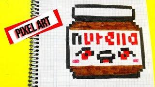 Draw  Handmade  Pixel- Art Como dibujar a la Nutella