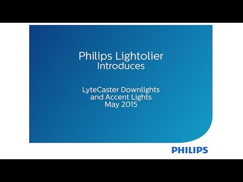 Philips Lightolier introduces LyteCaster LED Downlights and Accent