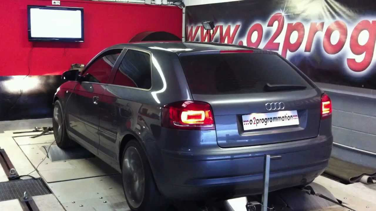 test dyno reprogrammation moteur audi a3 1 9 tdi 105 153ch o2programmation youtube. Black Bedroom Furniture Sets. Home Design Ideas