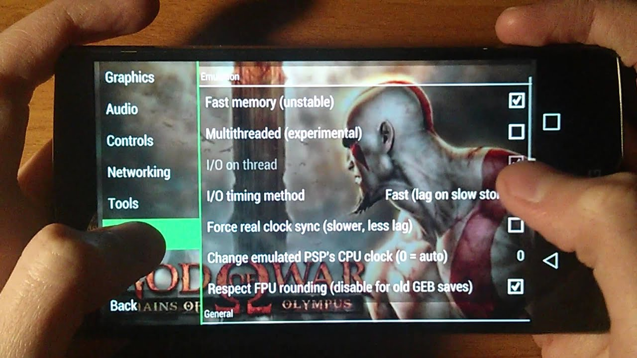 LG G4 - God of War Chains of Olympus - Sunshine Emulator for PSP - Gameplay  / Test