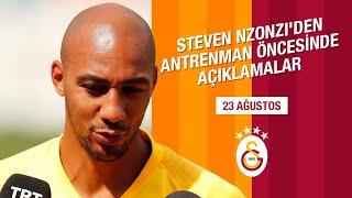 Steven Nzonzi'den Antrenman Öncesinde Açıklamalar - Galatasaray
