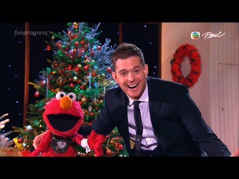 All I Want for Christmas Is My Two Front Teeth - Elmo & Michael Bublé [lyrics](live 2012)