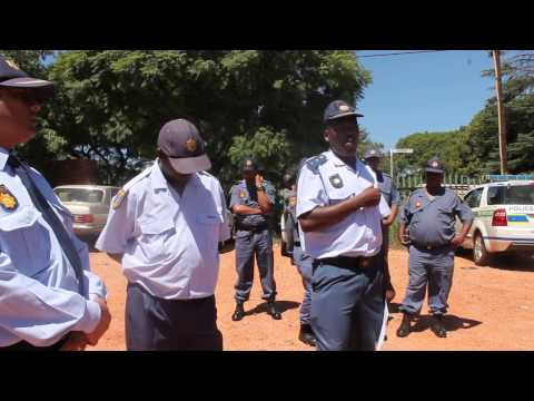 Linden Police Station Commander Colonel Mabalana Mohale addresses the South African Communist Party