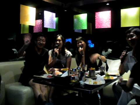 Karaoke  with Cousins at CEO, 2009