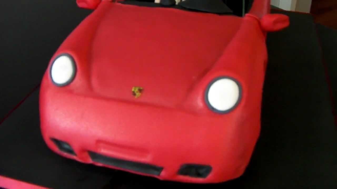 Porsche carrera convertible cake youtube baditri Gallery