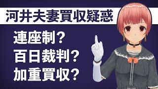 連座制、百日裁判、加重買収!?特殊用語が分かる動画【河井夫妻 買収疑惑】