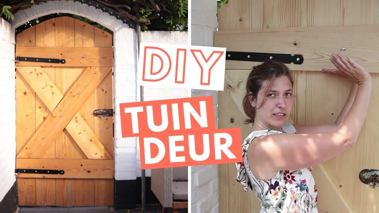 Verwonderlijk DIY TUINDEUR: Zo maak je ECHT een tuindeur van steigerhout - YouTube DW-28