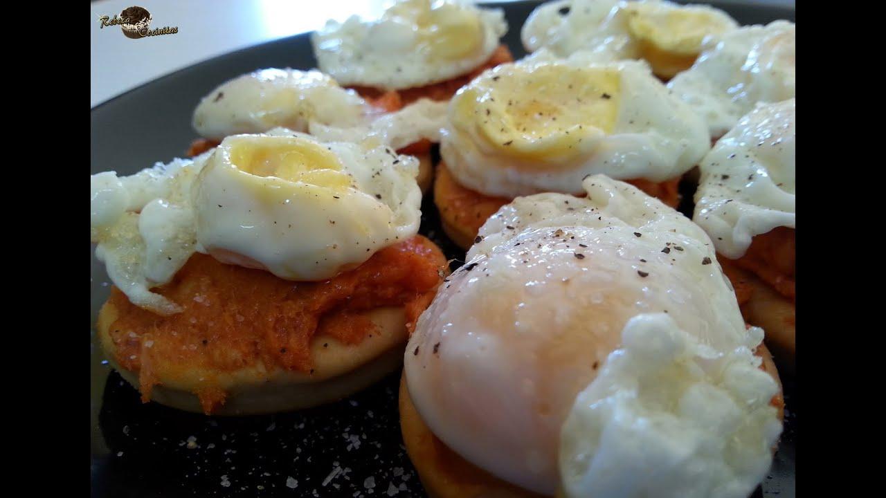 Canapes of sobrasada and quail eggs youtube for Quail egg canape