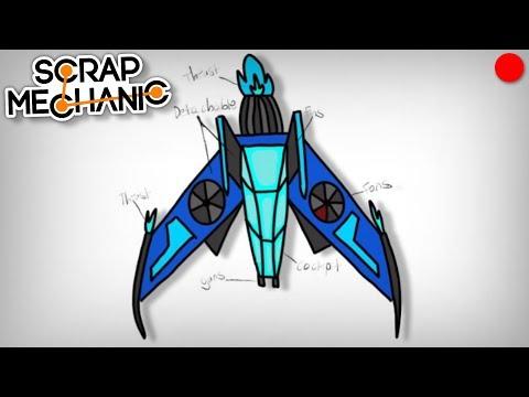 Building the Moonbo Concept Flyer - Scrap Mechanic Live Stream