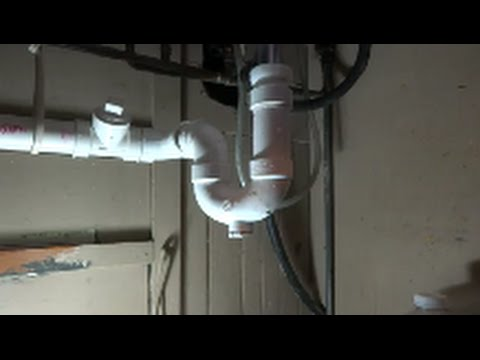 Kitchen Sink Drain Pipe Island Stainless Steel Bad Leak At Fixed Youtube