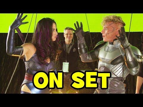 on XMEN APOCALYPSE Movie BRoll & Bloopers  Psylocke, Quicksilver, Jean Grey