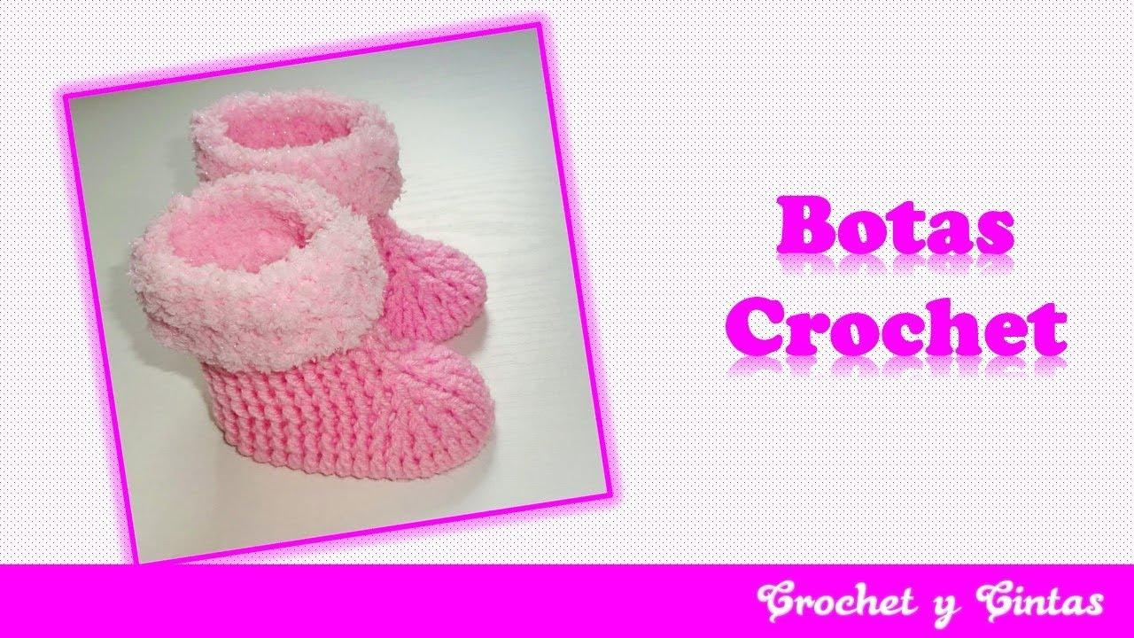 Botas o zapatos flecos de nieve tejidos a crochet para bebés - Parte ...