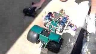 Quad engine tractor running