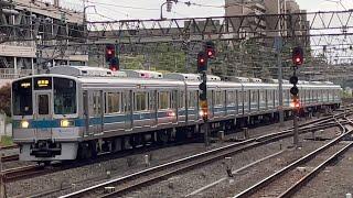 小田急1000形1254編成(幕車未更新車)が到着するシーン