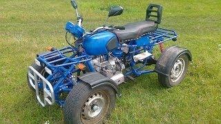 Самодельный квадроцикл на базе мотоцикла Днепр и ВАЗ 2101 Homemade ATV based motorcycle Dnepr(Самодельный квадроцикл на базе мотоцикла Днепр и ВАЗ 2101 Есть небольшой звон, это звон в глушителе из за..., 2013-11-17T10:18:55.000Z)