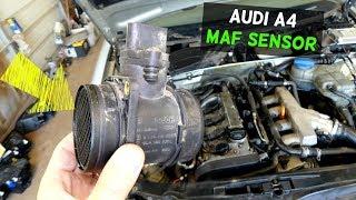 AUDI A4 B6 MAF SENSOR  MASS AIR FLOW SENSOR REPLACEMENT REMOVAL