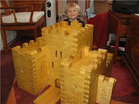 Toy Wooden Medieval Castle - YouTube