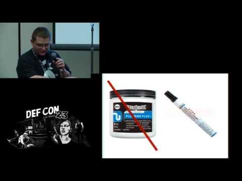 DEF CON 23 - Hardware Hacking Village - Soldering 101 - Melting metal for fun and profit