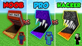 Minecraft NOOB vs. PRO vs. HACKER: HIDDEN TRAP! in Minecraft!