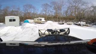 Plowing with the mason dumptruck