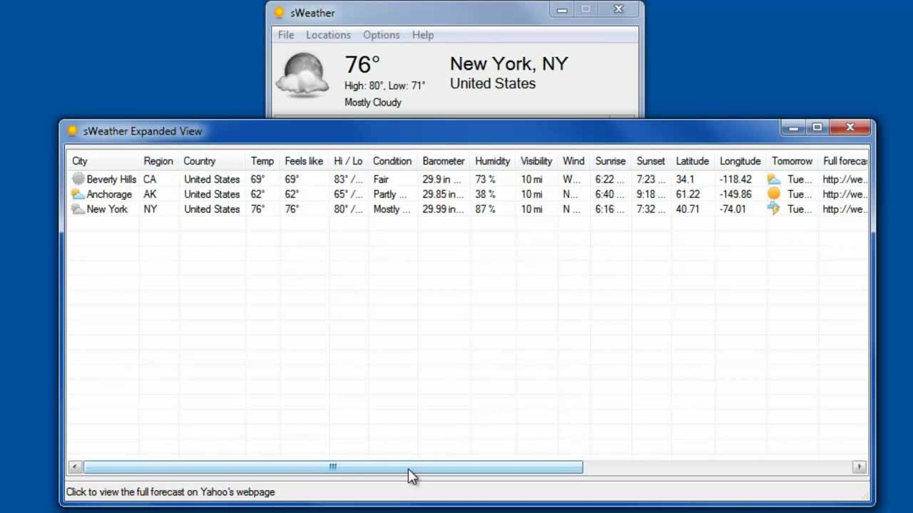 Show the Weather in Your System Tray