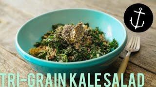 How To Make Tri-grain Kale Hipster Salad Bondi Harvest