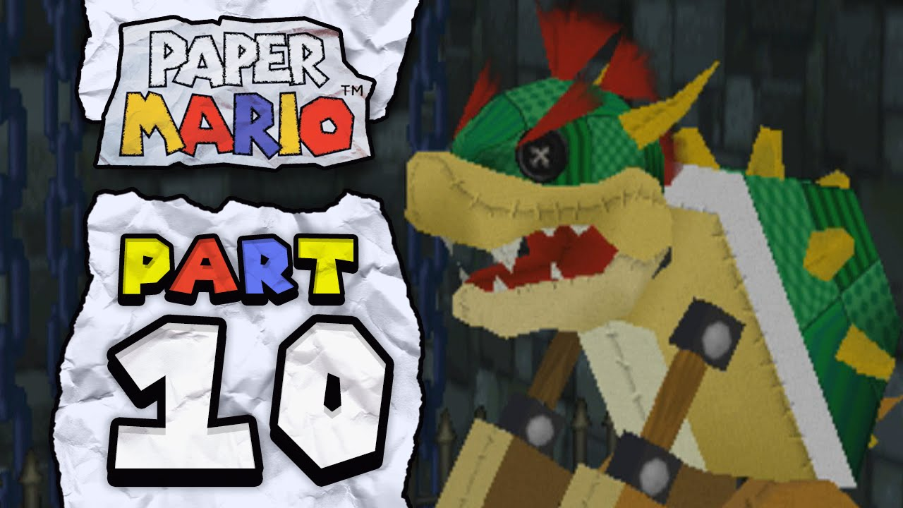 Papercraft Paper Mario: Part 10 - The Original Papercraft Bowser!