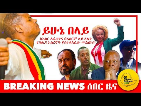 Yehunie Belay's message to all recently freed Ethiopian political prisoners