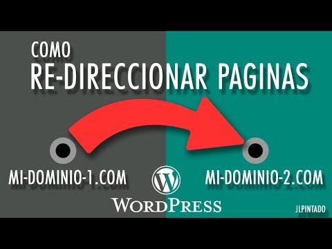 Como redireccionar paginas a otro dominio en Wordpress