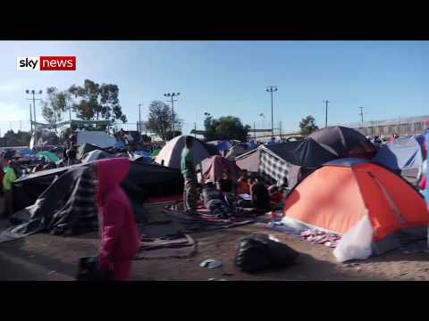 Tijuana border: Migrants to begin march for asylum