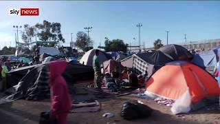 Tijuana border: Migrants to begin march for asylum