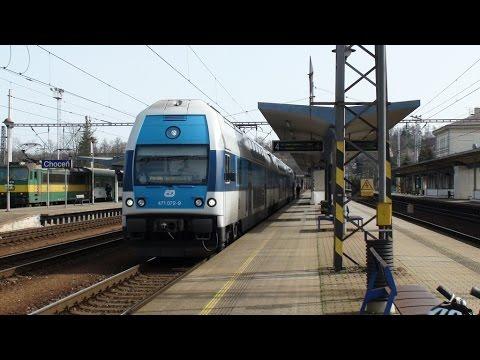 Vlaky v Chocni (trať 010)