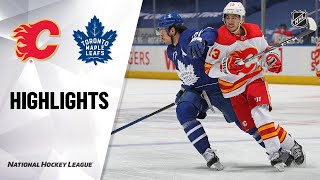 Flames @ Maple Leafs 4/13/21 | NHL Highlights