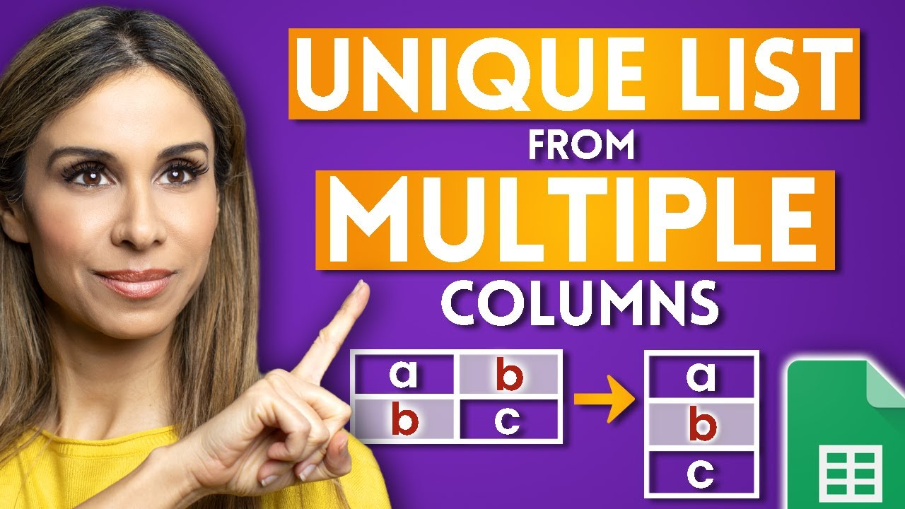 How to Get a Unique List from Many Columns Using Flatten in Google Sheets