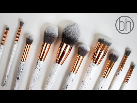 BH COSMETICS MARBLE LUXE BRUSH REVIEW + Demo/Closeups