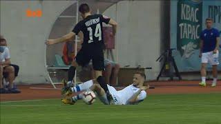Заря Динамо просмотр VAR претензии Михайличенко и желтая карточка Кендзери