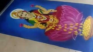 Diwali Rangoli of Lakshmi Mata l Diwali Special Lakshmipuja Rangoli
