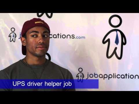 ups driver helper part time