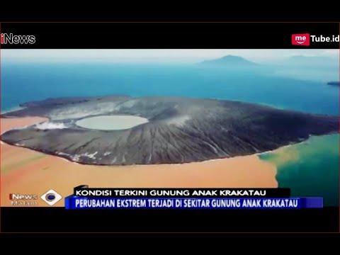 MENAKJUBKAN! Kondisi Terkini Anak Krakatau, Air Laut Berwarna Oranye - iNews Malam 12/01