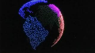 Intel World Record. Over Two-Thousand Drones Light Up the Sky!