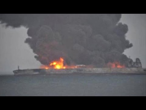 Fears that a burning oil tanker could explode