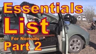 Absolute Essentials List for Nomads PART 2