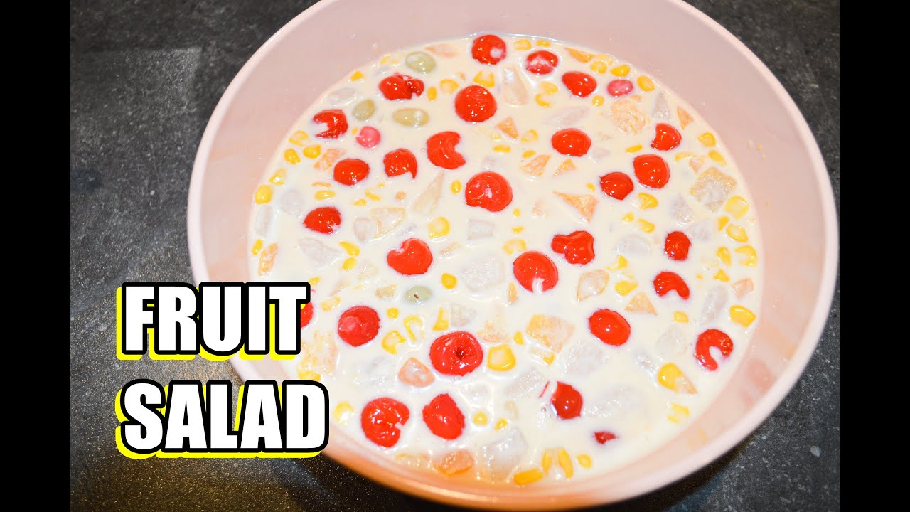 fruit salad creamy and yummy fruit salad recipehow to