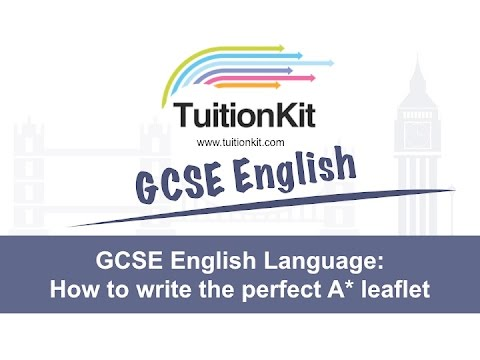 GCSE English Language How to write the perfect leaflet - YouTube
