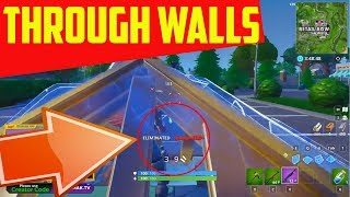Fortnite Shoot Through Wall Glitch with PYRAMIDS!