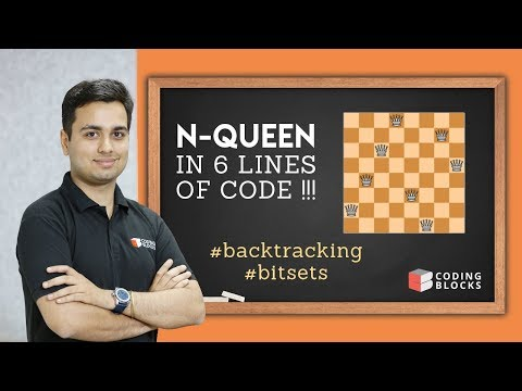 N-Queen using Backtracking & Bitsets : Just 6 Lines of Code !