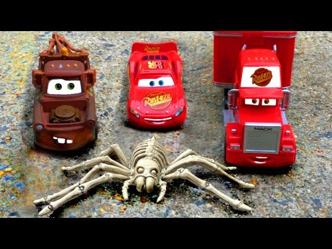 Thumbnail: Disney Pixar Cars Lightning McQueen & Mater's AMAZING Discovery Kids Movie Giant Spider Cars Movie!