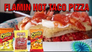 FLAMIN HOT CHEETOS TACO PIZZAS! LETS EAT