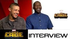 Luke Cage: Theo Rossi (Shades Alvarez) und Mahershala Ali (Cornell Stokes) zur Netflix-Serie