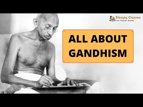 Political Science Optional for UPSC - GANDHISM - A. 8. c (Political Ideologies)